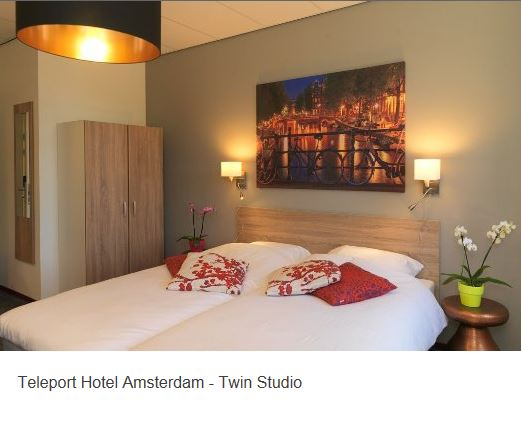 Teleport Hotel Amsterdam Twin Suite