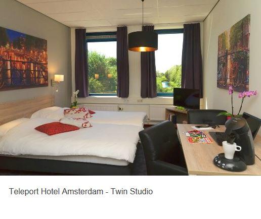 Teleport Hotel Amsterdam Zimmer