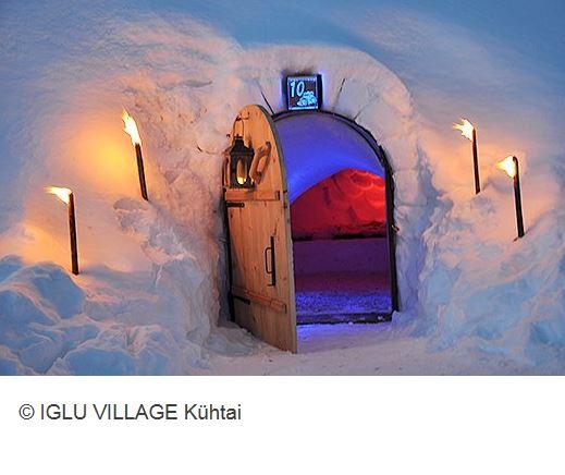 Iglu Village Kuehtai Eingang