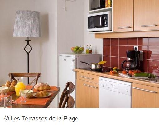 Residence Les Terrasses Plage Kueche