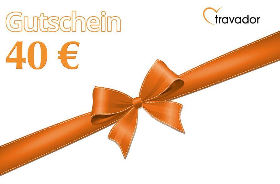 Gutschein Travador 40 Euro