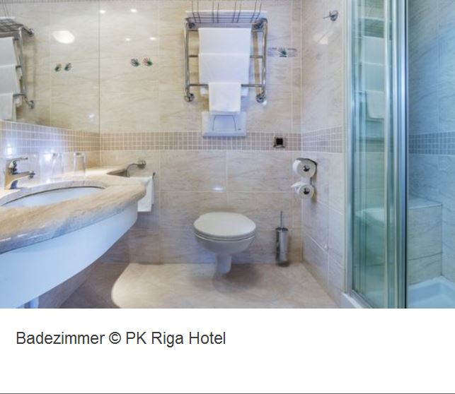 PK Hotel Riga Badezimmer
