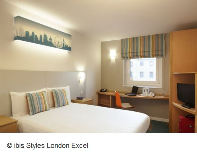 Ibis Styles London Excel Zimmer