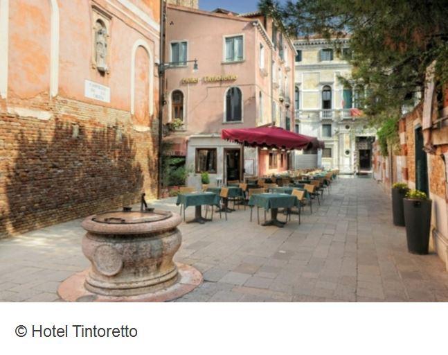 Hotel Tintoretto Venedig Garten Terasse