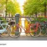 Amsterdam Brücken und Grachten mit Fahrrad