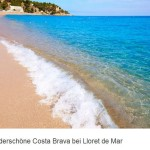 Strand bei Lloret de Mar Costa Bravo