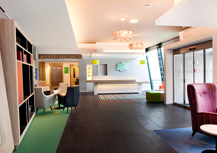 Holiday Inn Dresden City South Lobby Empfang