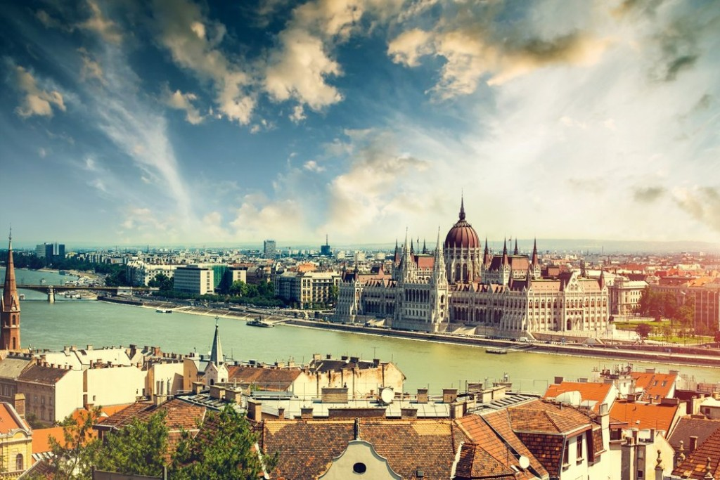 Budapest an der Donau in Ungarn