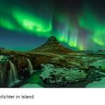 Polarlichter Island Reykjavik Himmel