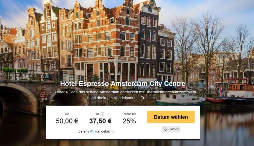 Amsterdam Deal günstiges Hotel
