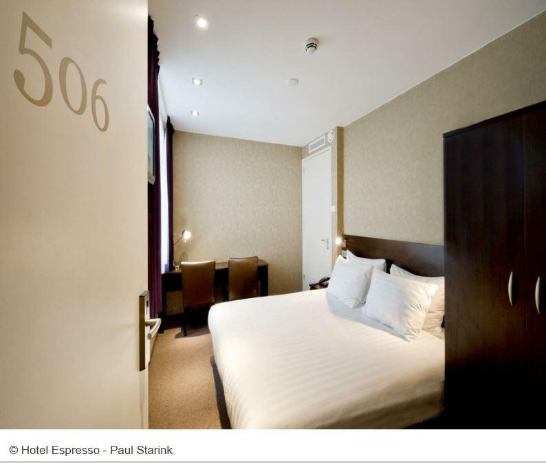 Doppelzimmer im Hotel Espresso Amsterdam City Centre
