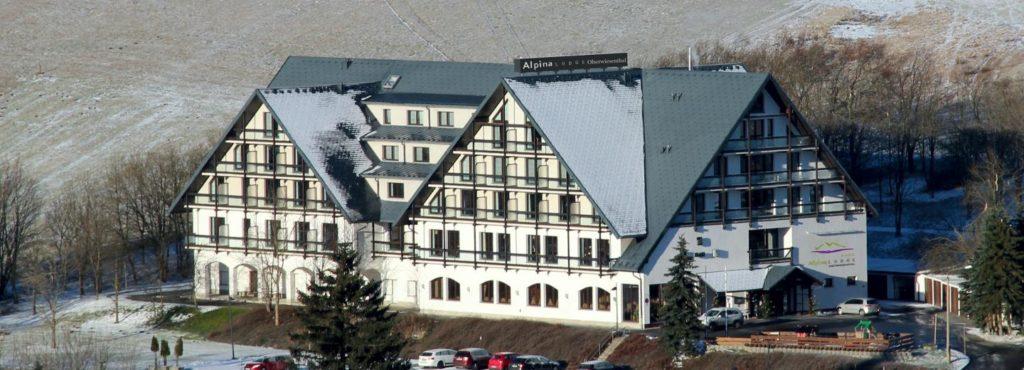 Alpina Lodge Hotel Oberwiesenthal Erzgebirge Aussenansicht