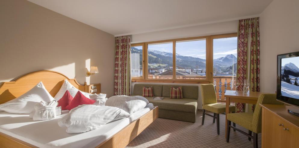 Doppelzimmer Hotel Kirchberger Hof Tirol Österreich