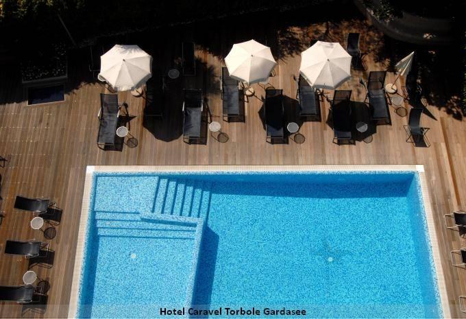 Pool Hotel Caravel Torbole Gardasee Angebot