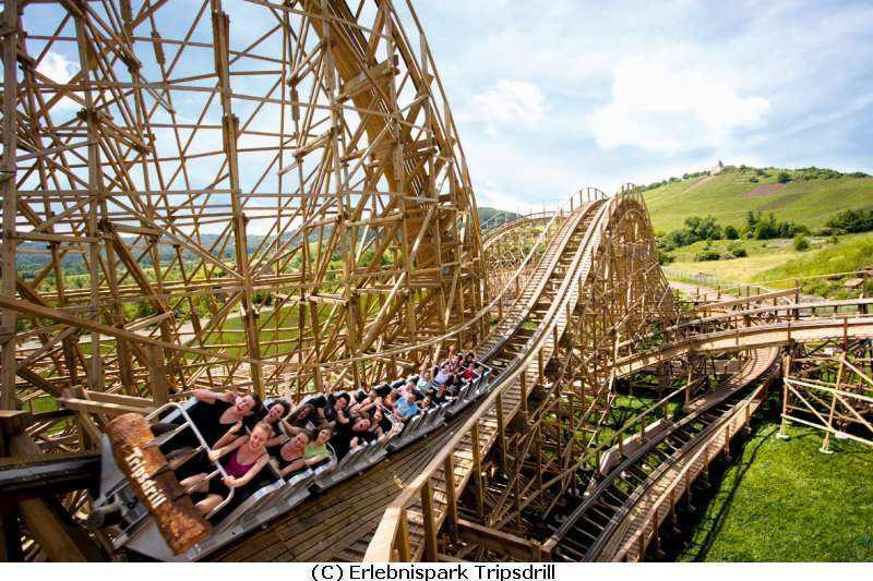 Freizeitpark und Wildpark Tripsdrill Deal Achterbahn Mammut