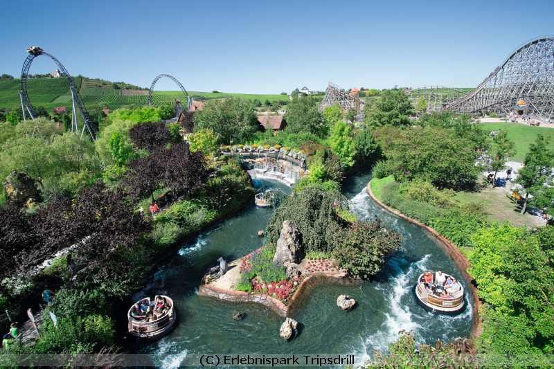 Freizeitpark und Wildpark Tripsdrill Deal Rafting im Waschzuber