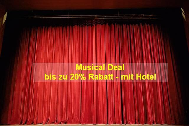 Aktion - Stage Musicals bis zu 20% Rabatt auf die Karte mit Hotel