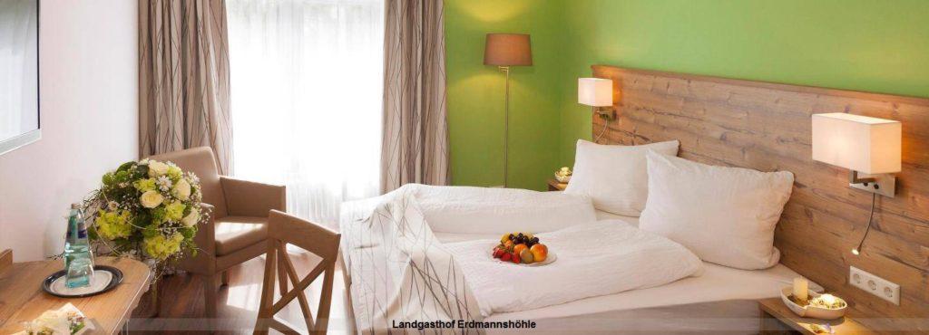 Doppelzimmer im Hotel Landgasthof Erdmannshöhle