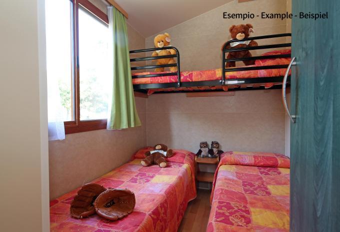 Mobilheim - Schlafzimmer für Kinder Camping San Benedetto-Vecchio Mulino