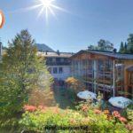 Garten und Aussenansicht Hotel Jäger von Fall
