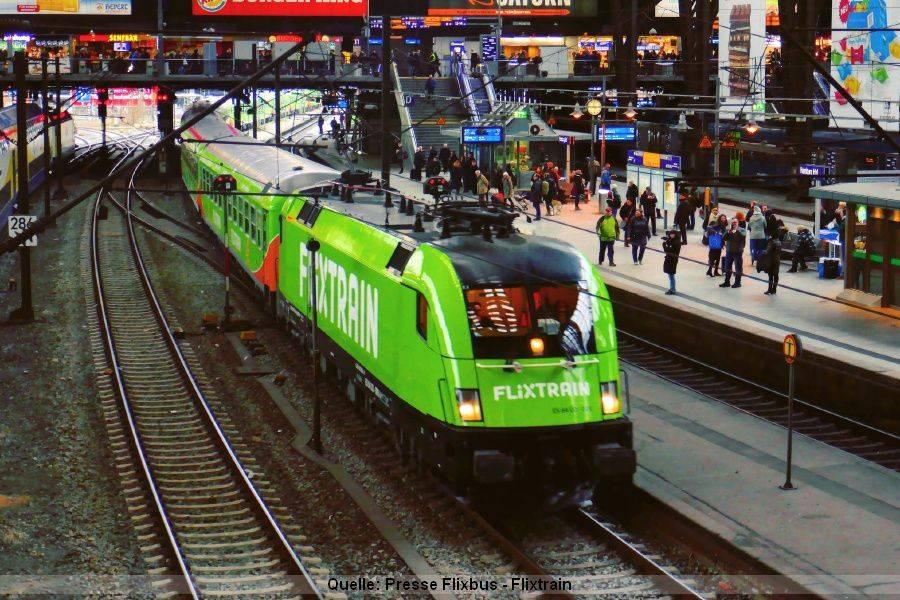 Flixtrain ist nun als Alternative zur Bahn verfügbar
