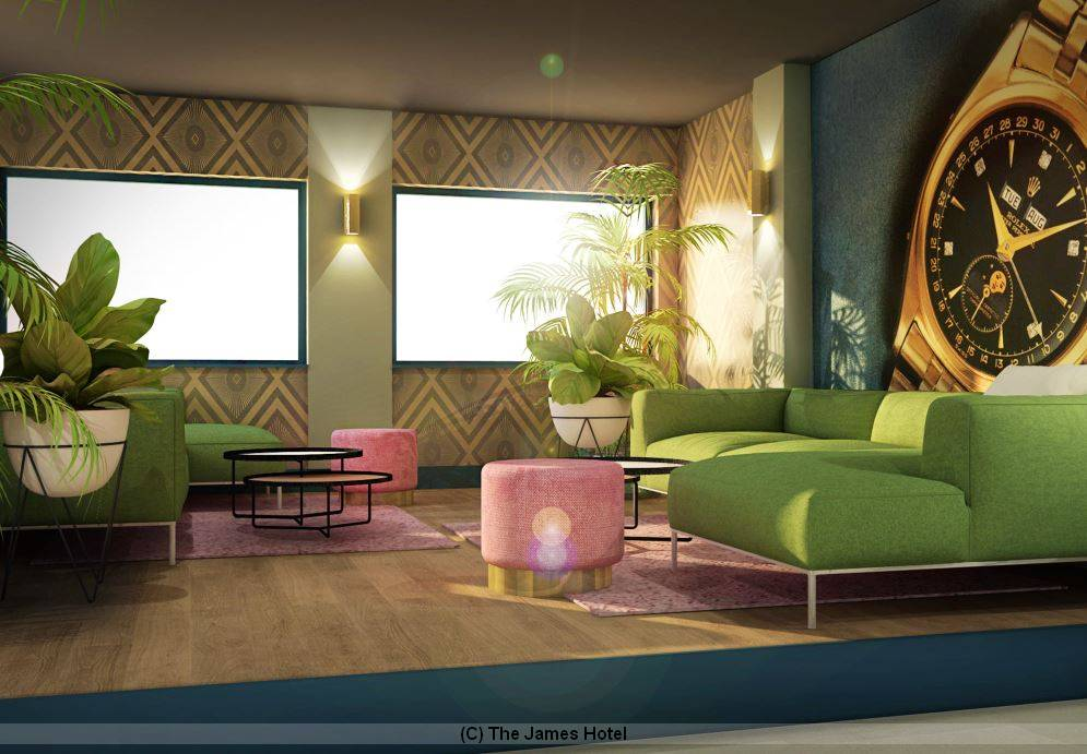 Lounge im The James Hotel Rotterdam - neues Designhotel